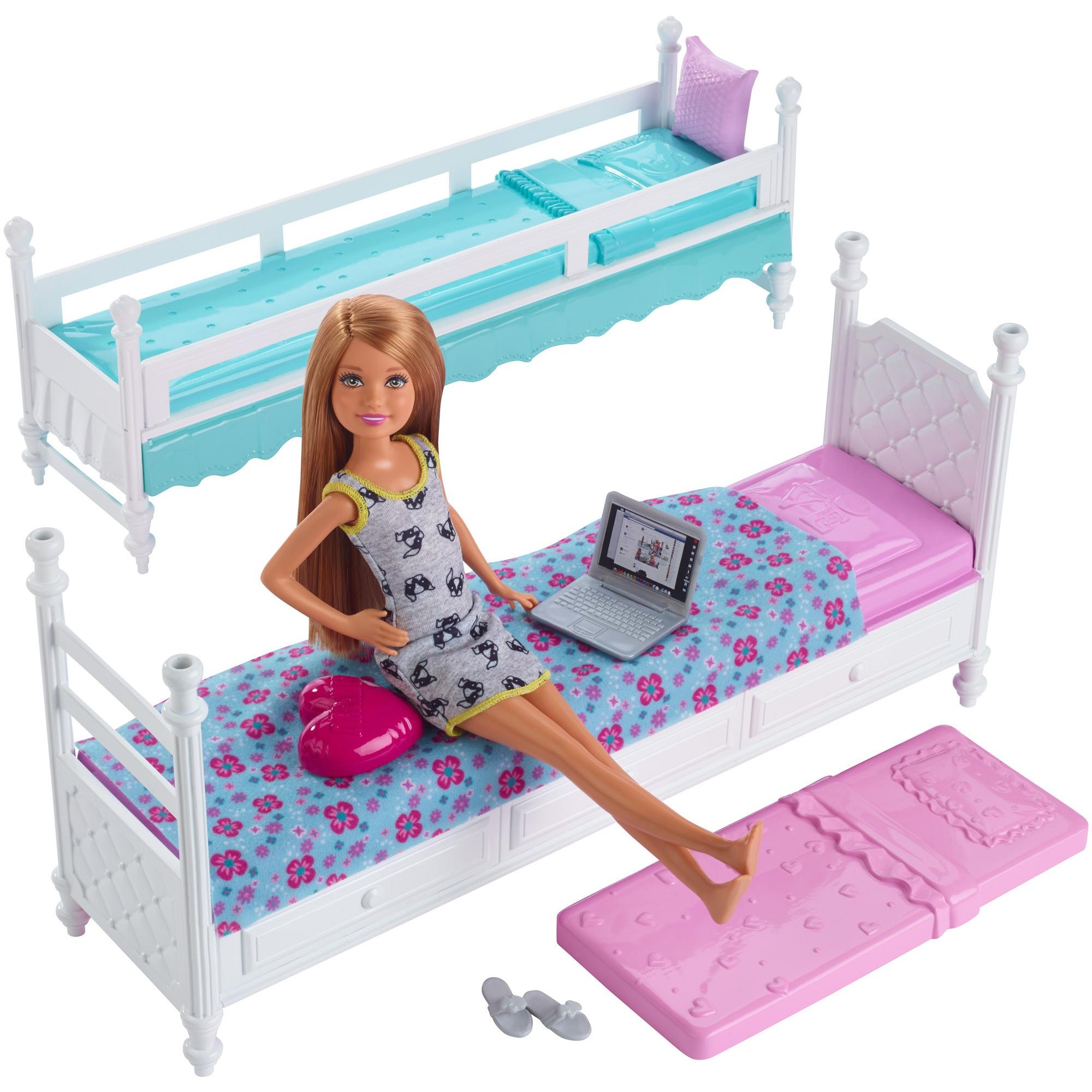 Barbie Sisters Bunk Beds Stacie Doll Walmart Com