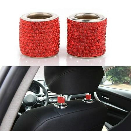 Bling Bling Back Cover (KABOER 4x Crystal Car Seat Headrest Collar Decor Charms Diamond Bling Car Interior)