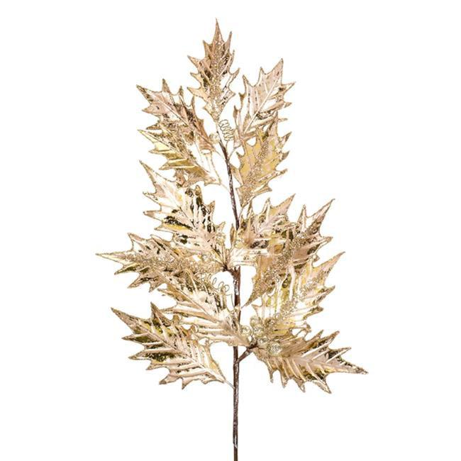 Melrose International 73476DS 33 x 3 in. Fabric Leaf Spray, Gold & Brown - Set of 6 - image 1 de 1