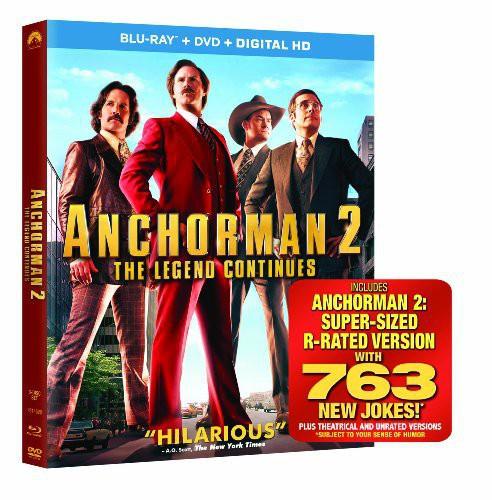 Anchorman 2: The Legend Continues (Blu-ray + DVD + Digital Copy)