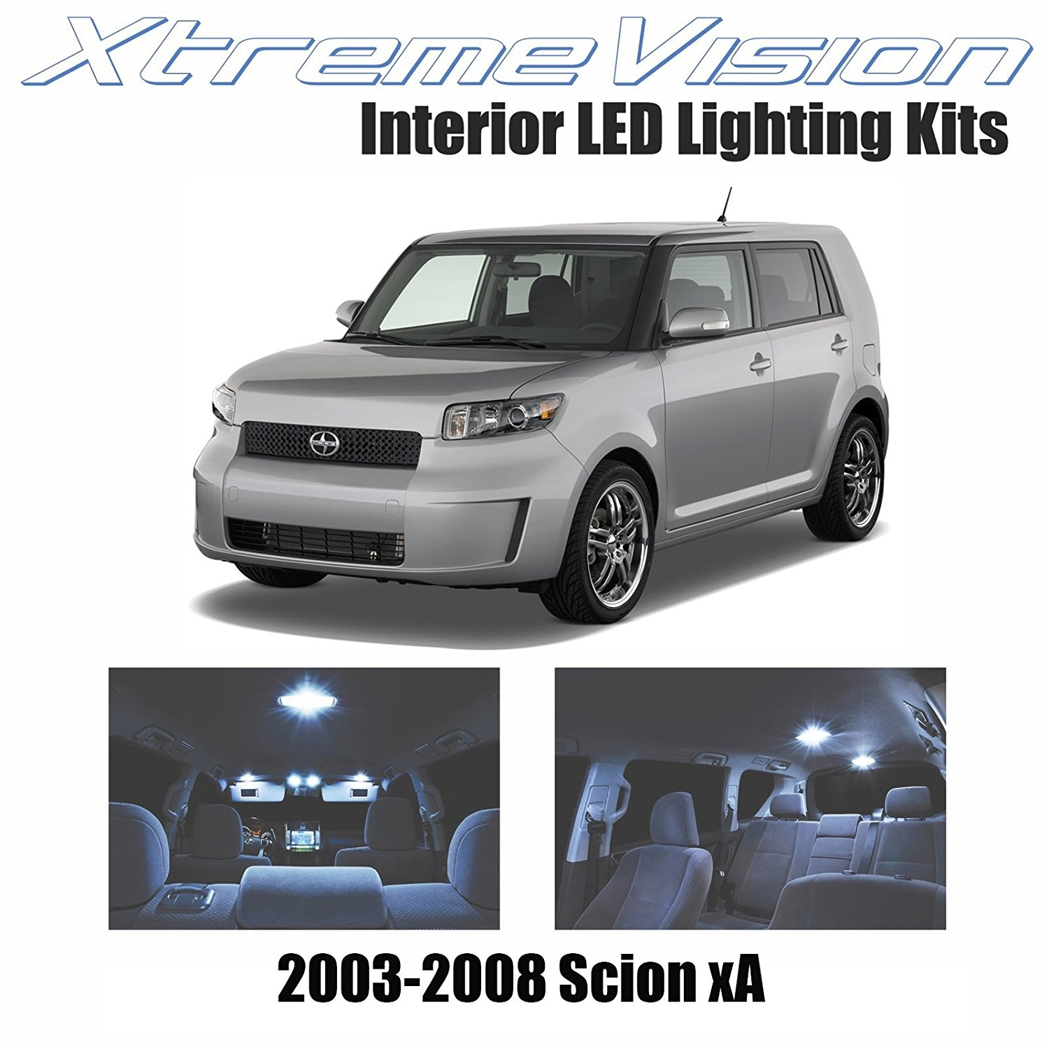 XtremeVision LED for Scion xA 2003-2008 (3 Pieces) Cool White Premium Interior LED Kit Package + Installation Tool