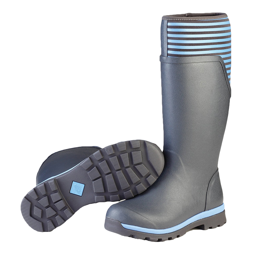Muck Boot Women's Cambridge Tall Rain Boots Grey Neoprene Rubber 11 M