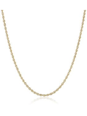Jewelers 14K Solid Gold 2MM Rope Chain Necklace BOXED