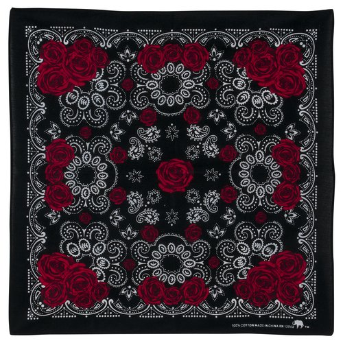 No Boundaries Black Rose Bandana