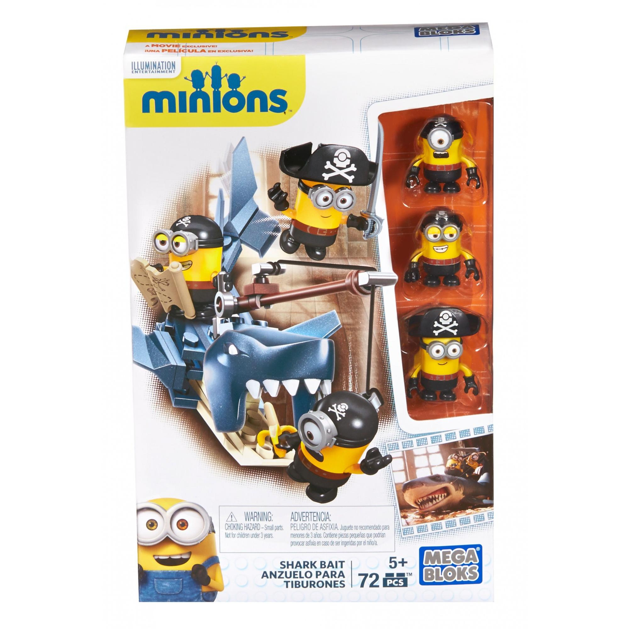 Mega Bloks Minions Supervillain Jet include Figures New Mint in Box