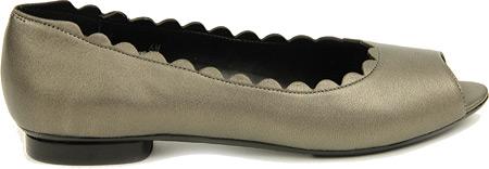 vaneli women's arty pewter metallic nappa flat 8.5 m (b)