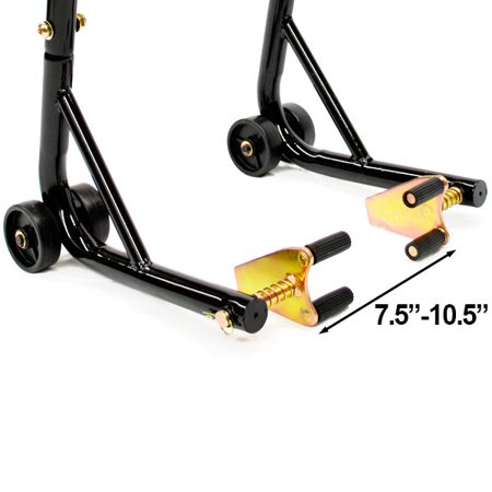 Motorcycle Front+Rear Dual Lift Stand - w/ Spools For Kawasaki Ninja ZX-6 ZX600 1998-2002 - image 2 of 6