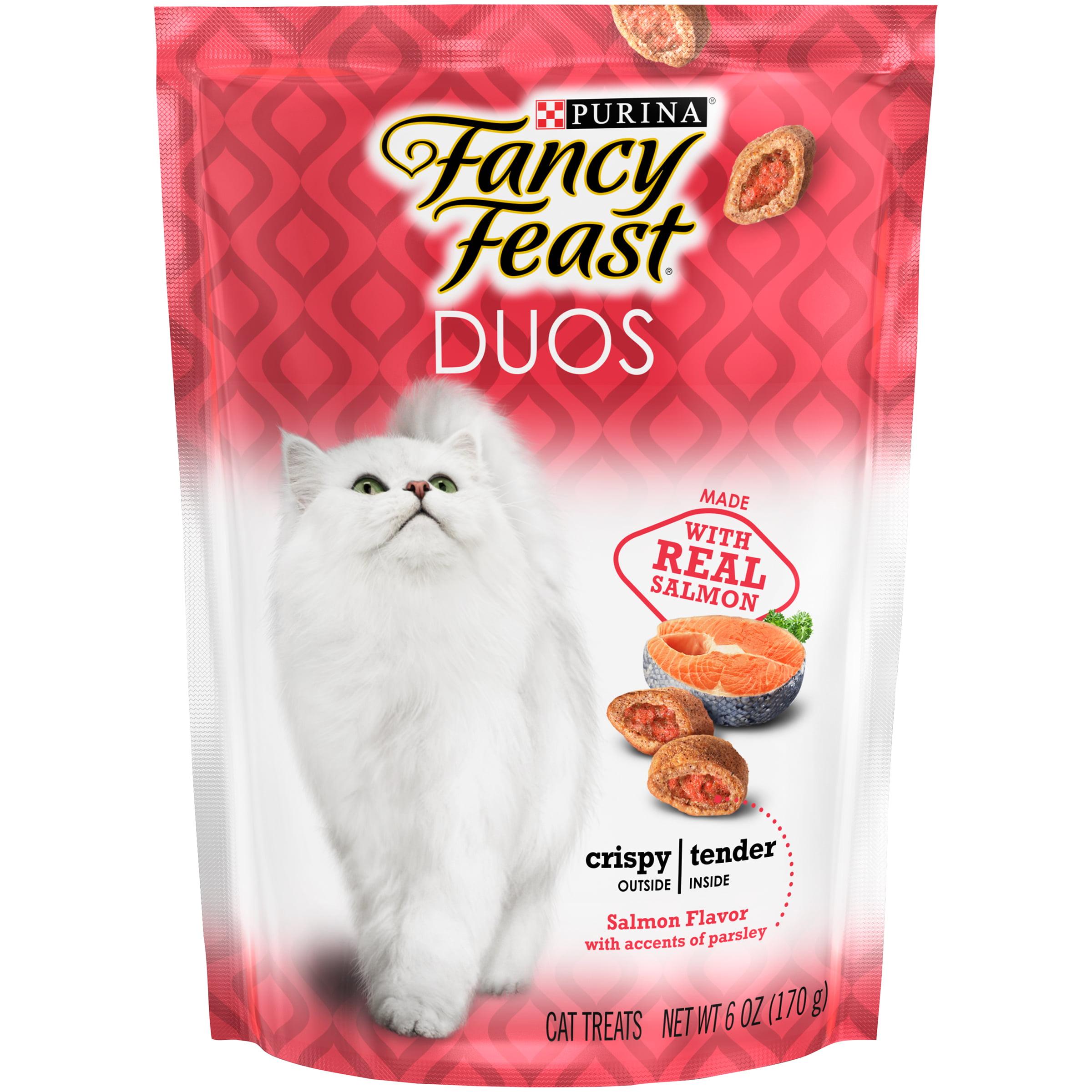 Purina Fancy Feast Duos Salmon Flavor Cat Treats, 6 oz.