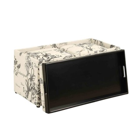 Convenience Concepts Sheridan Storage Bench with Ottomans in Botanical - image 3 of 4