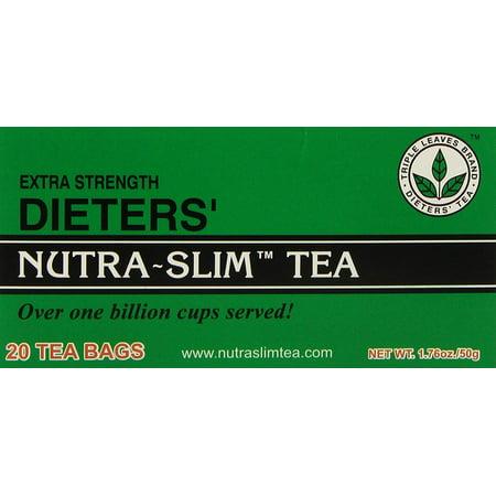 Triple Leaves Brand Herbal Tea Nutra Slim Tea ( Extra Strength 20 Tea Bags ) ( 2 Box ) (Triple Life Tea)