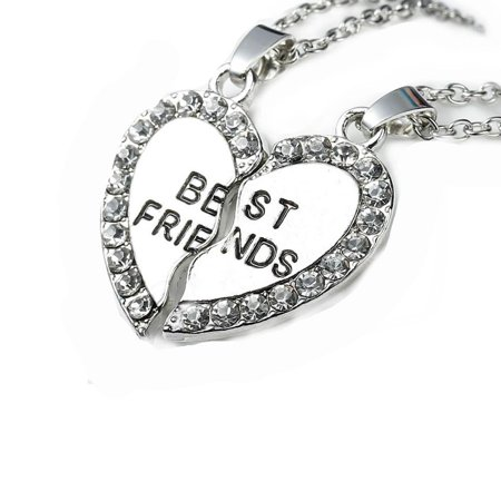 Link Cable Necklace Cable Chain Broken Heart Message
