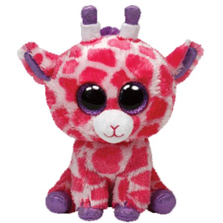 TY Beanie Boos - TWIGS the Pink Giraffe (Glitter Eyes) (Medium Size - 9 inch) ()