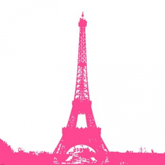 Pink Eiffel Tower Poster Print by Veruca Salt (34 x 34)
