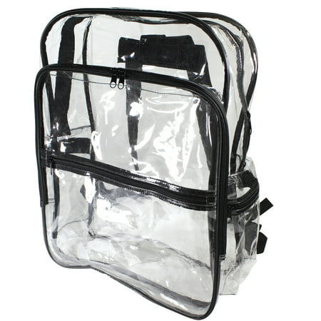 Clear Alien Backpack (Large Size Clear Backpack Book Bag Transparent School Sports Stadium Concert Arena TSA Security Shoulder Travel)