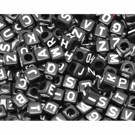 450 Mixed White on Black Acrylic Alphabet /Letter