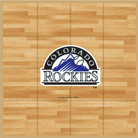 MLB Colorado Rockies Portable Foam Puzzle Tailgate Floor Mat by