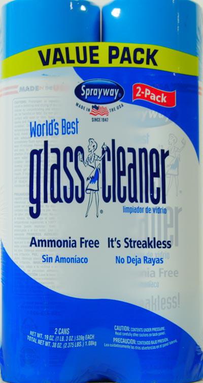 Sprayway World's Best Glass Cleaner, 2 ct, 19 oz - Walmart.com