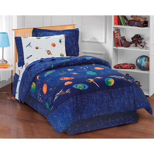 Galaxy Space Cotton/Polyester 6-piece Bed in a Bag with Sheet Set Twin