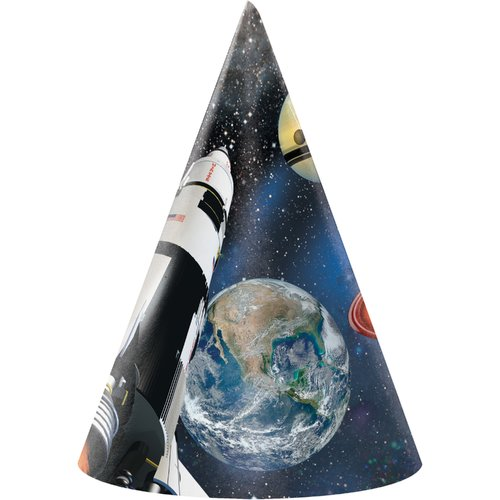 Creative Converting Space Blast Hat Paper Disposable Party Favor (Set of 24)