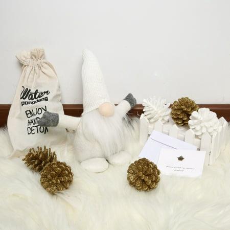 Handmade Swedish Gnome, Scandinavian Tomte, Yule Santa Nisse, Nordic Figurine, Plush Elf Toy, Home Decor, Winter Table Ornament, Christmas Decorations, Holiday Presents - 10 Inches ()