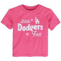 Los Angeles Dodgers Girls Toddler Fan T-Shirt - Pink