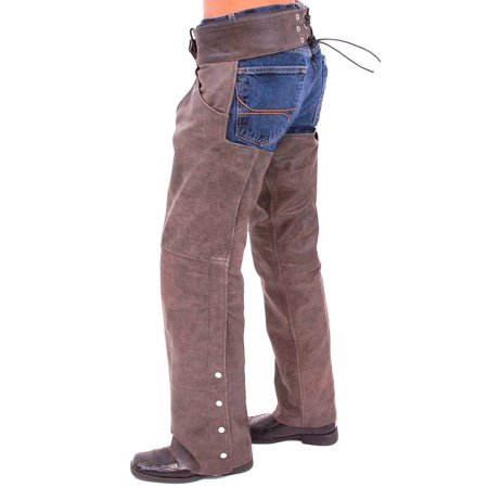 Vintage Brown Leather Pocket Chaps #C720PN