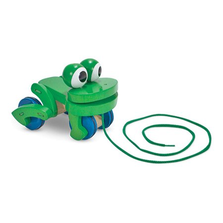 Donkey Pull Toy - Children's Melissa & Doug Frolicking Frog Pull Toy