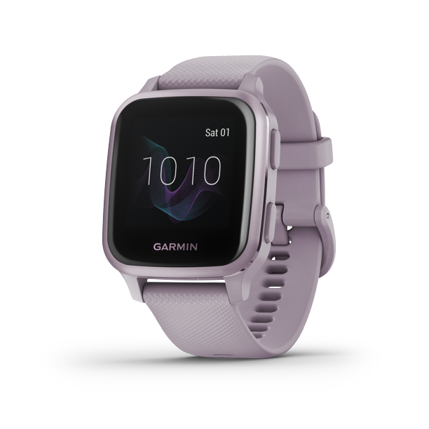Venu® Sq, Metallic Orchid Aluminum Bezel with Orchid Case and Silicone Band