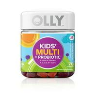 OLLY Kids Multivitamin + Probiotic Gummies Yum Berry Flavor 70 Ct