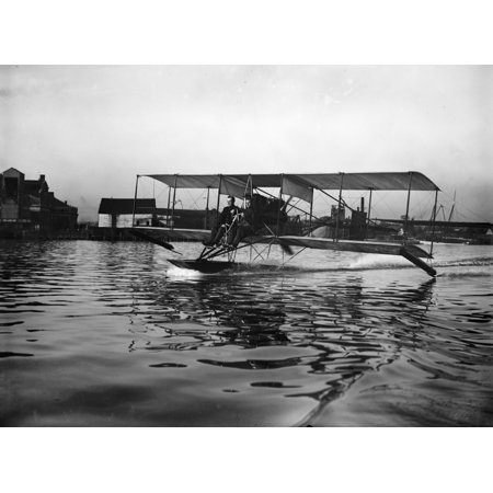Theodore Ellyson N 1885 1928  American Aviator And The First United States Navy Officer Designated As An Aviator Testing A Seaplane On The Potomac River Photograph 1911 Poster Print By Granger Collect