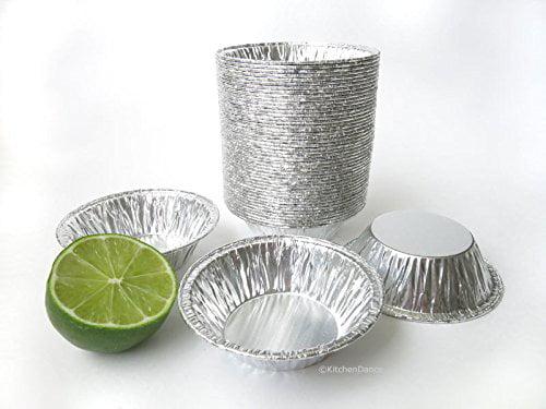 "3"" Small Foil Tart Pan or Mini Pie Pan #301- Pack of 48 by SAFCA"