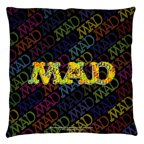 Mad So Much Mad Throw Pillow White 20X20