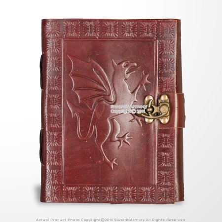 Medieval Genuine Leather Journal Diary Parchment Paper Brown Fierce Dragon Theme](Medieval Themes)