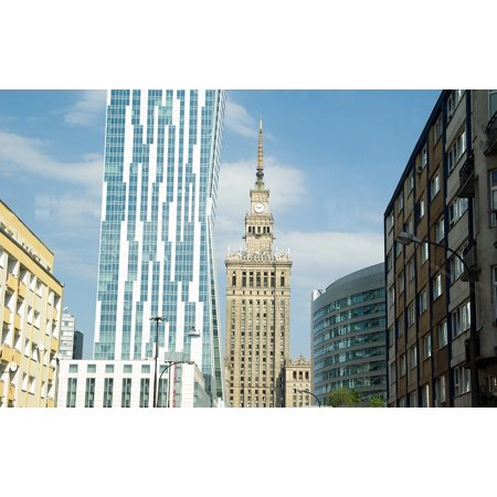 Canvas Print Poland Palace of Science Tours Buildings Warsaw Stretched Canvas 10 x 14 ()