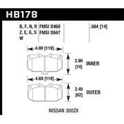 Hawk 06-07 WRX / 89-96 Nissan 300ZX / 89-93 Skyline GT-R HP+ Street Front Brake Pads