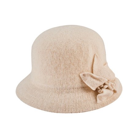 Women's San Diego Hat Company Knit Cloche Bucket Hat with Side Bow CTH8091 - Knit Bucket Hat