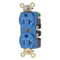 HUBBELL WIRING DEVICE-KELLEMS Receptacle,Blue,1.0 HP,3 Wires,Nylon HBL5352BL