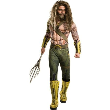Mens Deluxe Aquaman Halloween Costume](Aquaman Kids Costume)