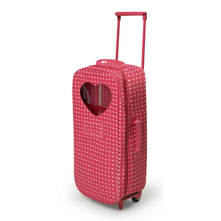 - Badger Basket Trolley Doll Carrier with Rocking Bed and Bedding - Pink/Star - Fits American Girl, My Life As & Most 18