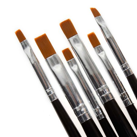 Maniology (formerly bmc) 6pc Nail Art UV Gel Acrylic Salon Pen Painting Detailing Flat Brush Kit](Photos Halloween Nail Art)