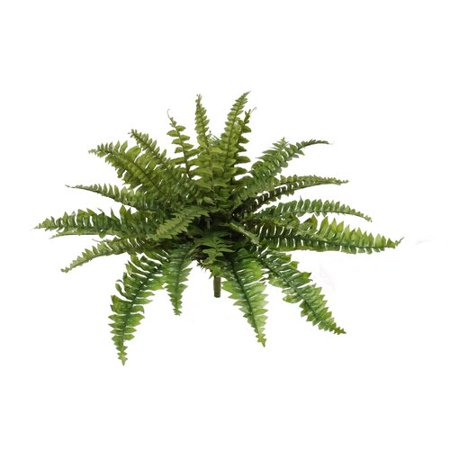 Larksilk Artificial 28 Inch Diameter Boston Fern w/ 27 Fronds, 4-Pack ()