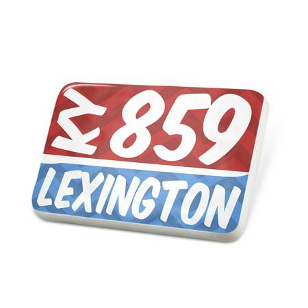 Porcelein Pin 859 Lexington, KY red/blue Lapel Badge – NEONBLOND - Car Mart Lexington Ky