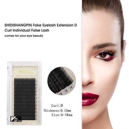 6340319ba1a SHIDISHANGPIN Fake Eyelashes Extension Individual False Lashes D Curl Black  Volume Eyelashes Extension Supplies For Beauty ...