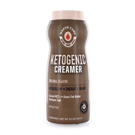 Rapid Fire Ketogenic Creamer with MCTs, Grass Fed Butter ...