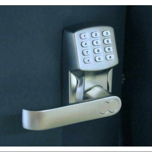 Electronic Keyless Door Lock Set Satin Nickel For Left