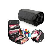 Gearonic Hanging Makeup Organizer/ Toiletry Bag, 4 Zippered Compartments, Black