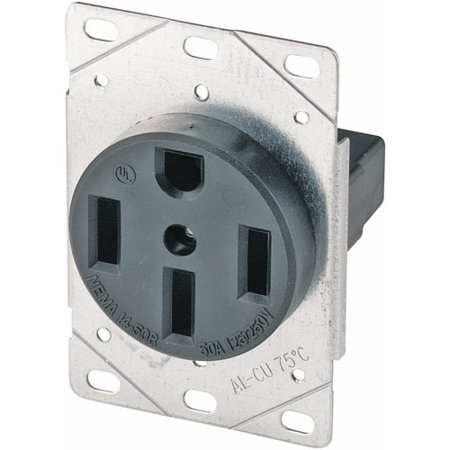 Eaton Cooper Wiring 50A 4 Wire Flush Grounding Power Receptacle (Set of (Wall Receptacle Wiring)