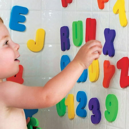 Baby Kids 36pcs Sponge Foam Letters amp; Number Floating Bath Tub Swimming Play Toy (Tub Toys For Toddlers)