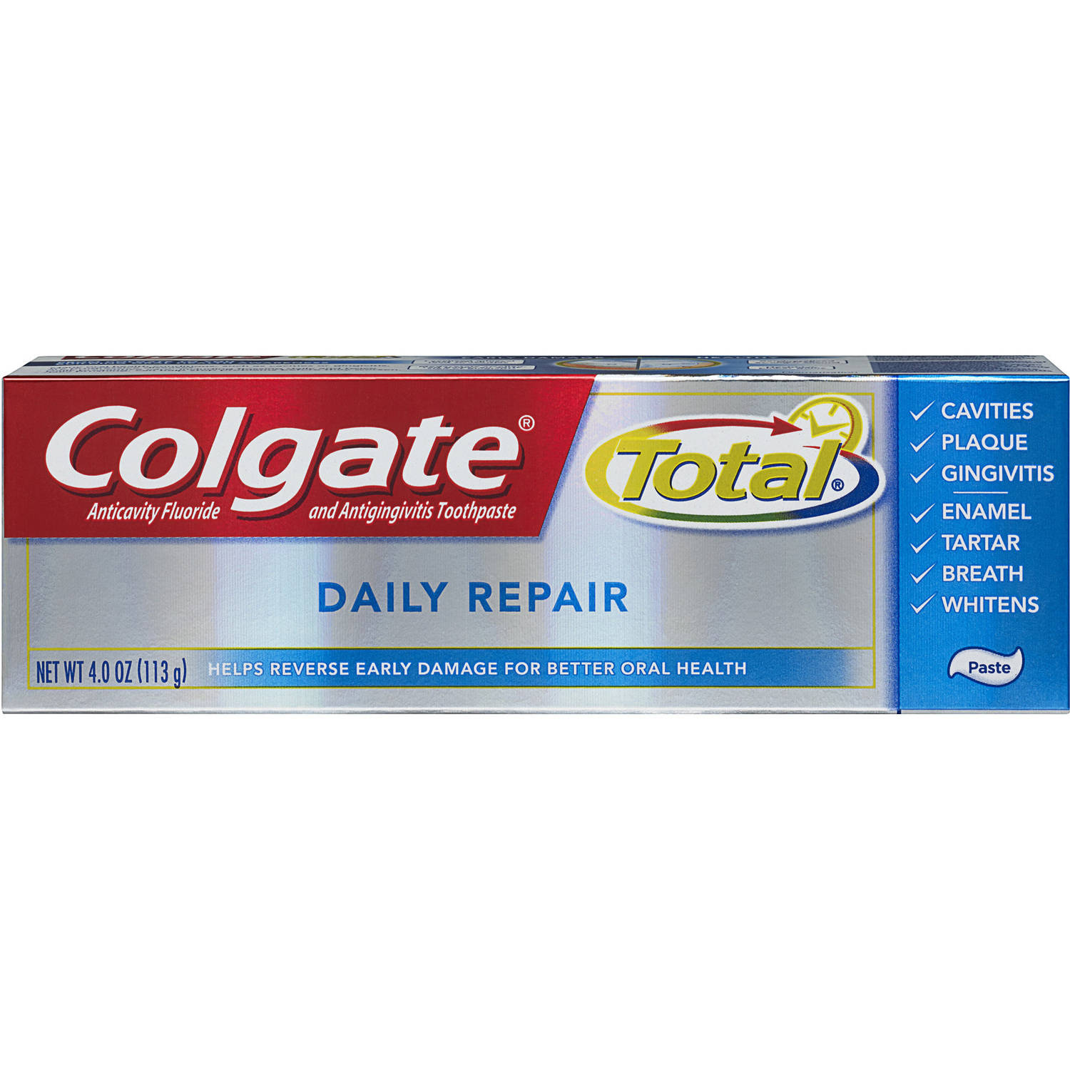 Colgate Total Daily Repair Anticavity Fluoride and Antigingivitis Toothpaste, 4.0 oz