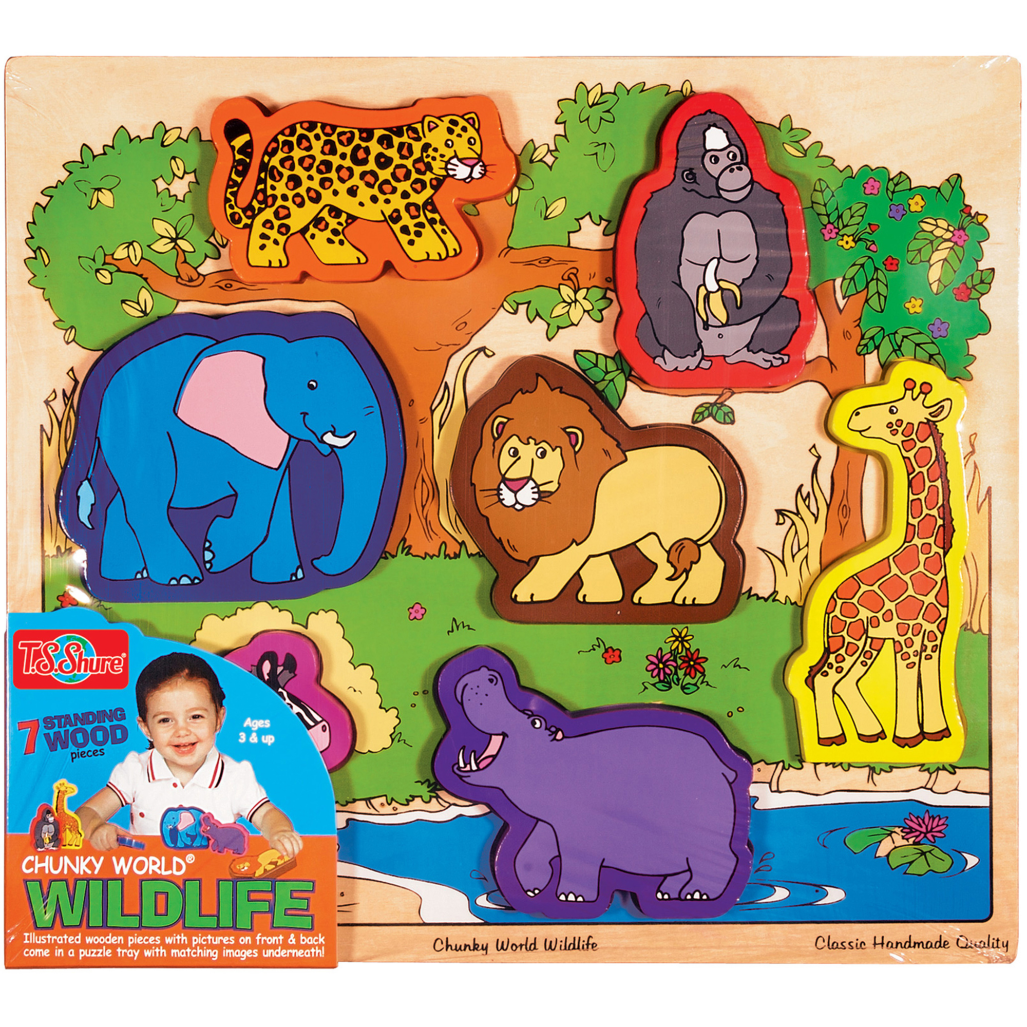 T.S. Shure Chunky World Wildlife Wooden Chunky Puzzle by TS Shure